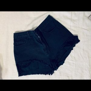 BDG Urban Outfitter Black high waisted shorts.